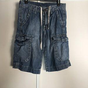 True religion cargo denim shorts Sz 28 vguc